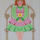 Needlepoint Canvas by Janet Watson Little Miss A  (fdp-JW-129)
