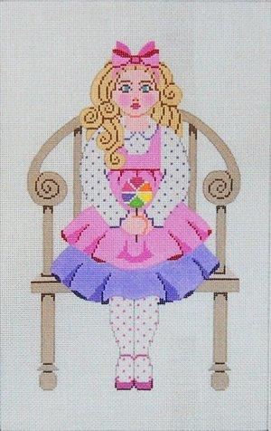 Needlepoint Canvas by Janet Watson Little Miss C  (fdp-JW-131)