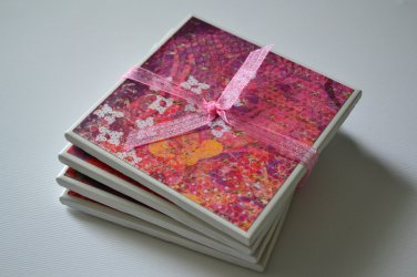 Pink/Purple Coaster set