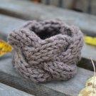 """7""""-8"""" Brown Cable-Knit Bracelet"""