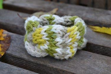 """6""""-7"""" Quad-Colored Cable-Knit Bracelet"""