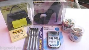 LOT Scotch Tape High Heel Shoe, Post It Purse Dispensers, Caculator & MORE