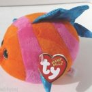 NEW TY - Beanie Ballz Splashy Orange/Pink Fish Regular Plush