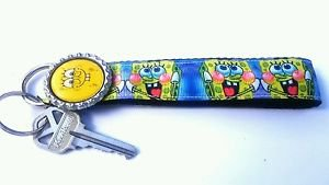 Spongebob Key Chain FOB - Spongebob Lanyard - Spongebob Key fob - Spongebob FOB