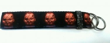 Chucky key Chain FOB - Halloween wristlet - Childs play lanyard