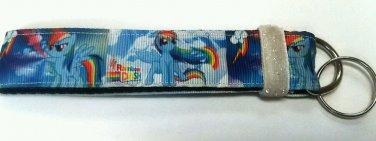 Rainbow Dash key Chain FOB - My little Pony wristlet - Pony lanyard