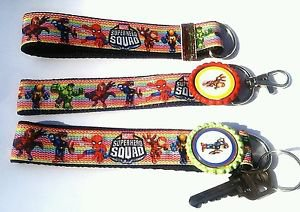 Superhero Squad Key Chain FOB - Superhero Squad wristlet -  Superhero Key fob