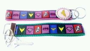 Superhero Key Chain FOB - Superhero Lanyard - Superhero Key fob - Supergirl