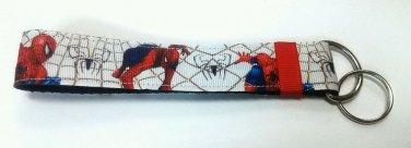 Spiderman key Chain FOB - Spiderman wristlet - Spiderman lanyard
