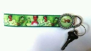 Frog Princess key Chain FOB - Frog Princess wristlet - Frog Princess lanyard