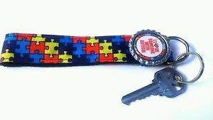 Autism Key Chain FOB - Autism wristlet - Autism Awareness lanyard