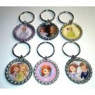 Sophia the First Party Favor Key chains - MANY AVAILABLE!