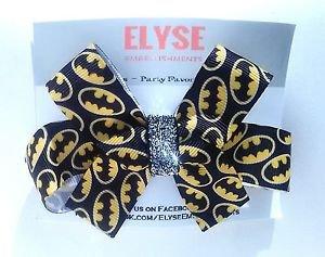 Batman Hair Bow - Batman Hair Clip