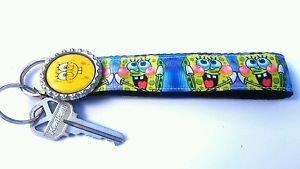 Spongebob Key Chain FOB - Spongebob Lanyard - Spongebob Key fob - Handmade