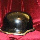 Vintage German Style Black Motorcycle Helmet from the 60's