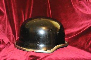 Vintage German Style Black Motorcycle Helmet from the 60's