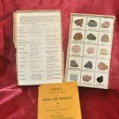 "VINTAGE SCOTT""S 15 ROCKS & MINERALS DISPLAY W/ BOOKLET FOR STUDENT/COLLECTOR"