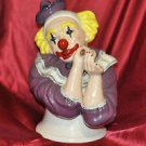 "1980's Vintage Large Ceramic Clown Bust 12"" Tall"