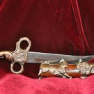 The Dragon,Tigers & Jaguar Animal Dagger knive Stainless steel Blade with Sheath