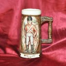Vintage Beer Stine Ceramic Mug with Handle Red Coat 1776 solder