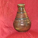 "Antique Large Rare Ornate Solid Vase 10"" X 6"""