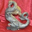 "Prehistoric Ancient Dragon Gothic Fantasy Figurine Home Decor 10"" Long 7"" Statue"