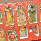 10 Nativity set figurines resin material