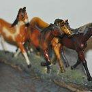 Horse Herd 4 Statue Home Decor Young's Enterprises Mixed Materials
