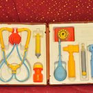 VINTAGE 1977 FISHER PRICE MEDICAL KIT COMPLETE IN CASE 5+, Boys & Girls & Doctor