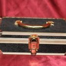 "Jewelry or Make-up Case with Handle No Key 9.5"" X 3.5"""