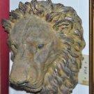 """Ferocious Lions Head Wall Hang Decor Art Sculpture 16.5"""" X 12' X 10"""""""