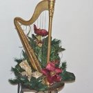 "Silk Flower Display With Harp Base 22"" X 10"""