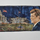 Vintage President John F Kennedy Wall Hanging Tapestry Flag & White House