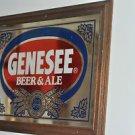 GENESEE Beer and Ale Mirror sign, Vintage 161/2'' by 221/2''
