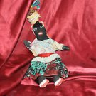Vintage / Antique Hand Made Black Cloth Doll; African American; Americana, Art