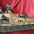 "Military Toy Tank 12"" with 4 soldiers"