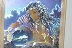 Indian squaw Goddess 3-D Foil Painting