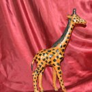 LEATHER GIRAFFE STATUE MADE IN INDIA 12""