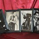 4 Framed Liza Minnelli,Humphrey Bogart,Jean Harlow,Grocho Marx's Margrett Dumont
