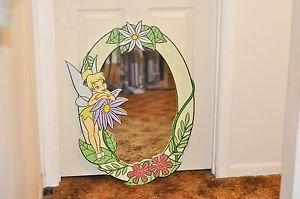 Disney Tinkerbell Mirror Tinker Bell Fairies Wall Mirror Child's Free Shipping
