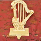 Metal Harp & Grapes Wall Decor Cast Iron for keys or hats or sweaters Beige and