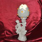 "Electric Lamp / light Cherub Angel Milk Glass Antique Old 17"" X 5"""