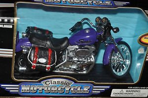 CLASSIC  MOTORCYCLE DIE CAST METAL 1:13 TOY,PURPLE COLOR