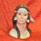 Native American Girl Face Pocohantis Bust Home Decor Not Sure and Original