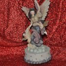 Angel and Childrens music Box Plays Holy Night 9''Tall by 31/2''Wide