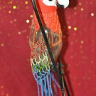 METAL PARROT BIRD CANDLE HOLDER LANTERN LAMP LIGHT Figurine and Mixed Material