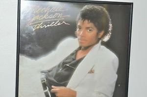 "VINTAGE1982 MICHAEL JACKSON THRILLER ALBUM FRAMED 12""VINYL LP"