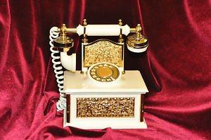 Hand held Vintage Decorative Phone AM Radio Made in Japan