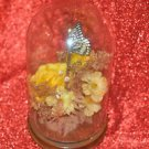 Butterfly and Yellow Rose Floral Art Flower Bouquet, Pink and Synthetic