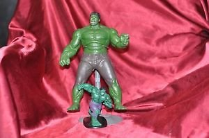 "Marvel Figurine Special 9"" Hulk Figure Plus 5"" Hulk lot"